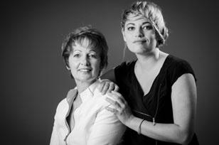 nadia marin et julie imbert de profil broderie à sallanches 74